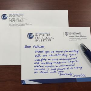 The Art Of The Handwritten Thank You Note Student Programs